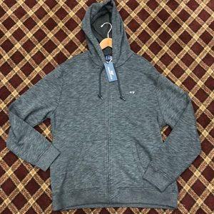 Vineyard Vines grey zip up sweatshirt